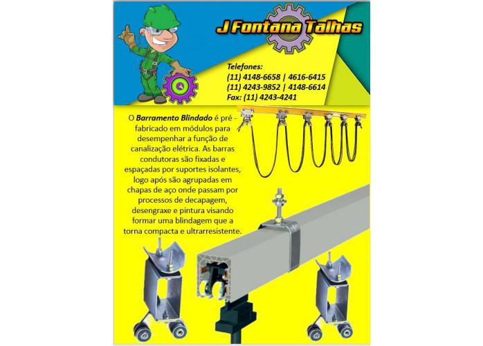 Barramento Blindado e Carro Coletor - J Fontana Talhas mf