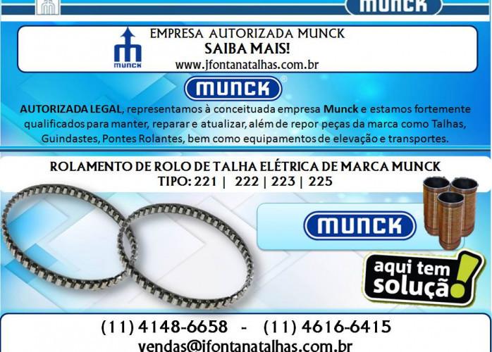Rolamento de Rolo para Talhas Elétricas Munck J Fontana Talhas mf