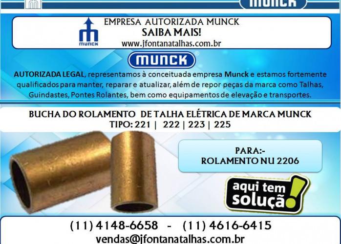 Bucha Normal e Bucha Alongada para Talhas Elétricas Munck - J Fontana Talhas mf