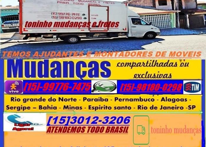 mudanças e fretes para todo brasil,atendemos frandes centros /sao paulo