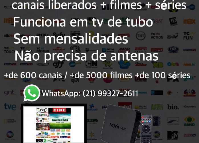 Tv box com mais de 600 canais