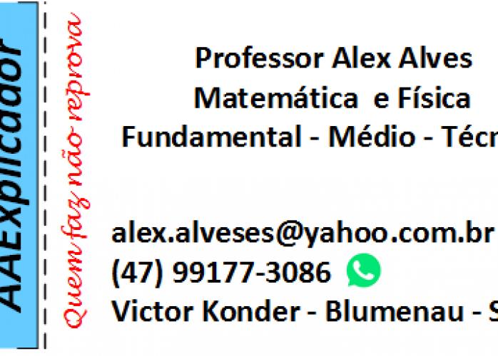 Aula particular - Matemática e Física - Fundamental e Médio - Blumenau/SC
