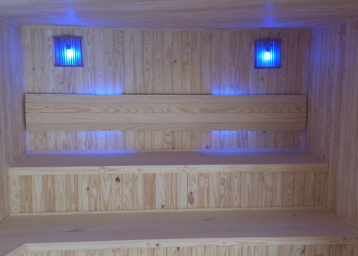 Sua sauna seca com umidificador exclusivo