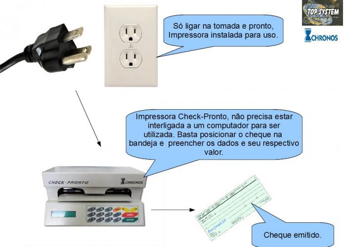 Impressora de cheques Check Pronto em Guarulhos - Configuração, instalação e conserto