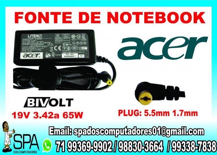 Fonte Carregador Notebook  Acer Aspire -3410  em Salvador BA