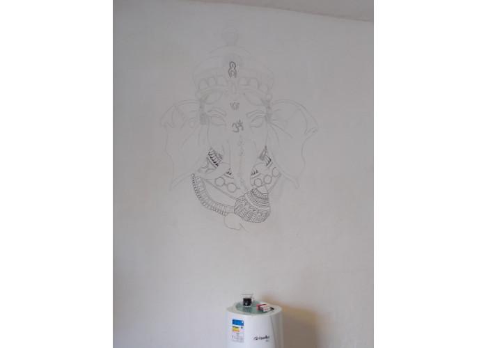 Desenhos em parede