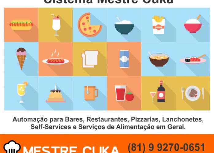 Sistema para restaurantes, pizzarias,  self-services, bares, padarias, mercadinhos e serviços de alimentação em geral.