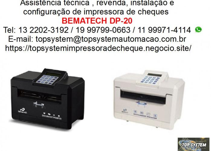 Máquina de preencher cheque Bematech dp-20 assistência em Santos