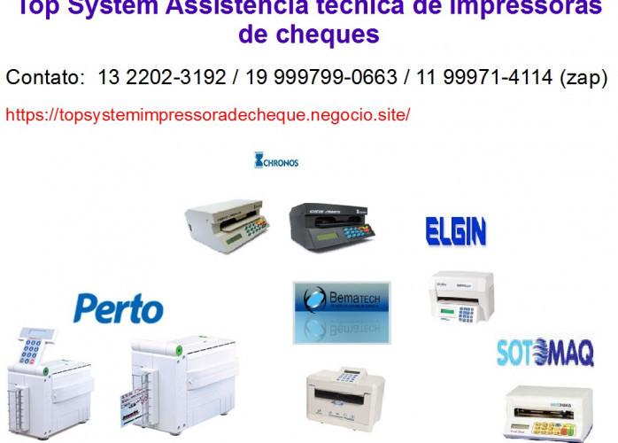 Conserto de impressora de cheque em Piracicaba