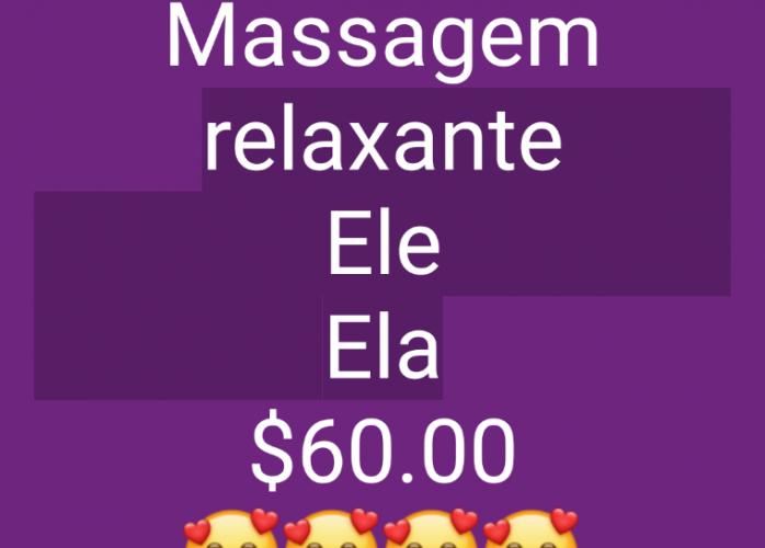 Massagem relaxante. Ele & Ela ($60.00)