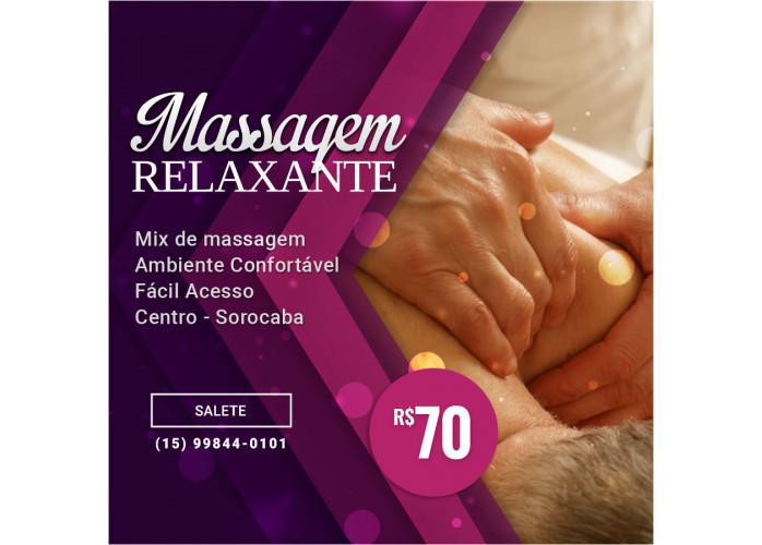 Venha fazer uma massagem e saia com as energias renovadas
