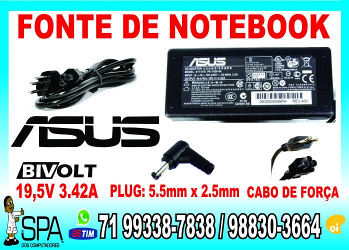 Fonte Carregador Notebook, Ultrabook e Netbook Asus em Salvador Ba