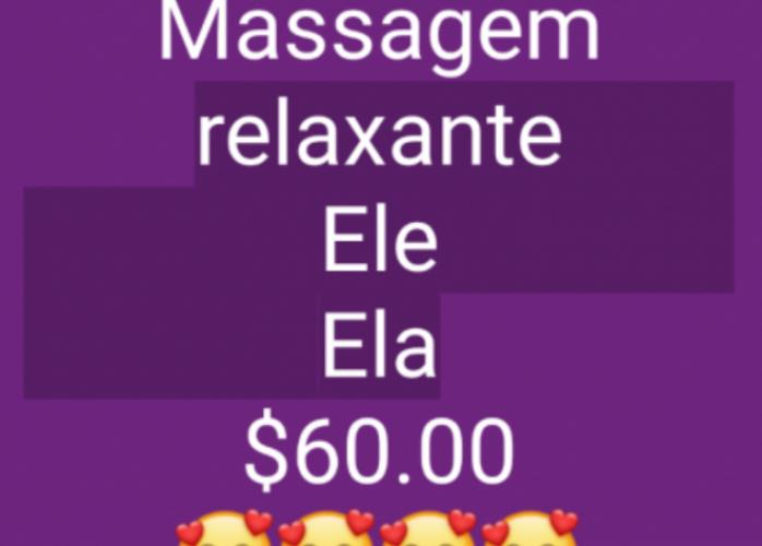 Massagem relaxante $60.00  (Ele e Ela)