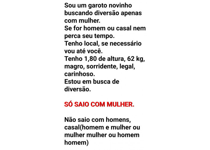 SEXO GRÁTIS. SÓ SAIO COM MULHER