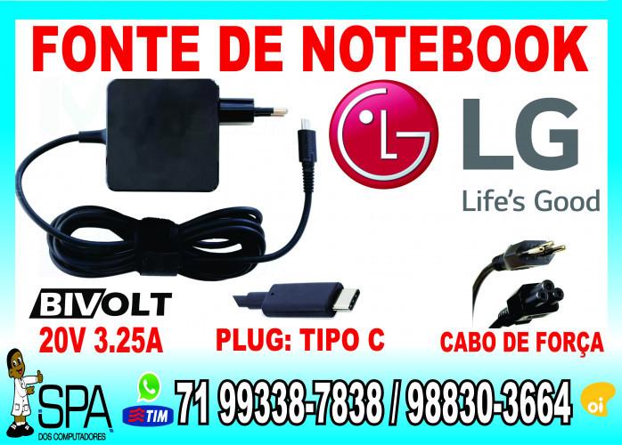 Carregador Notebook Ultrabook Tablet Usb-C Acer 20V 3.25A Plug Tipo C em Salvador Ba
