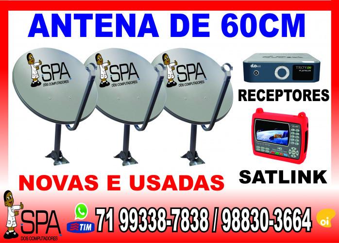 Antenas Banda KU 60cm para Receptores Cinebox em Salvador Ba