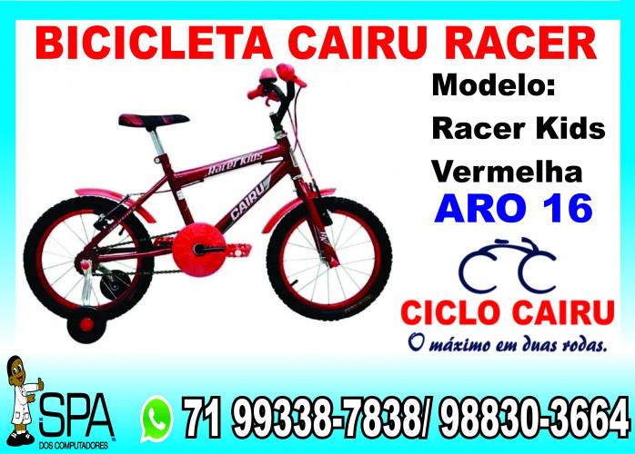 Bicicleta Cairu Racer Kids Vermelha em Salvador Ba