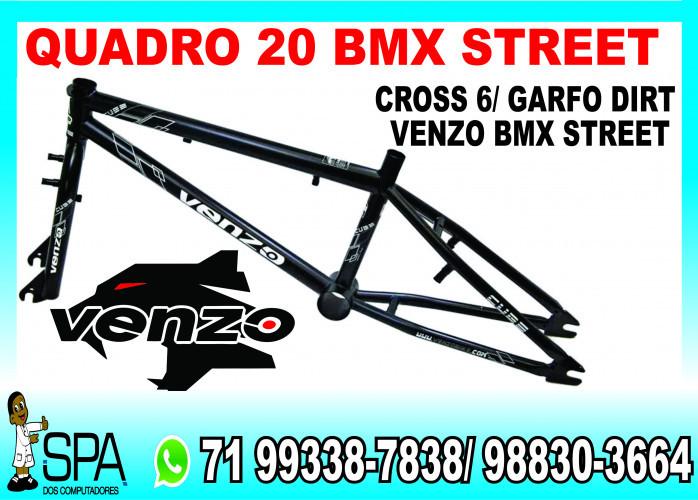 Quadro 20 Bmx Street Venzo Cube Cross 6 Garfo Dirt em Salvador Ba