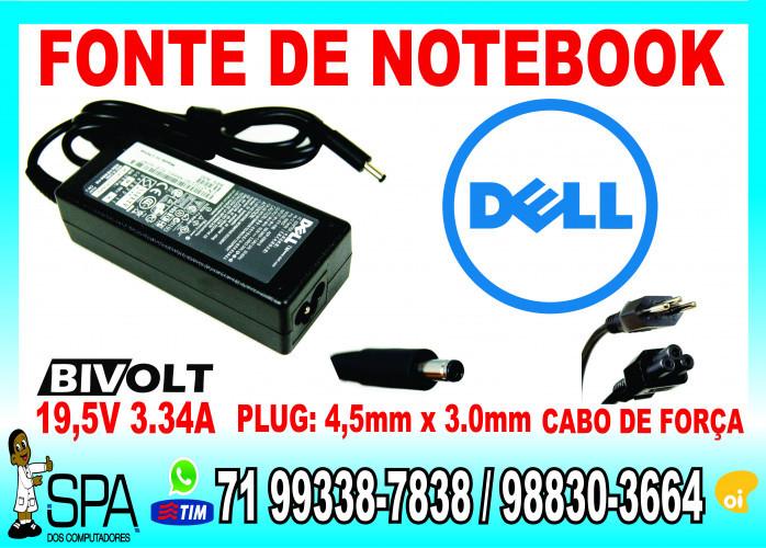 Fonte Carregador Lenovo Ideapad Pino fino 20v 2.25a 45w Plug 4mm x 1.7mm em Salvador Ba