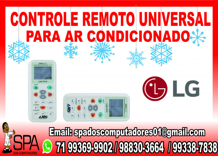 Controle Universal para Ar Condicionado Lg em Salvador Ba
