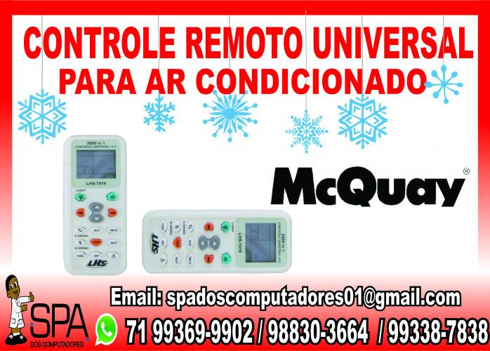 Controle Universal para Ar Condicionado McQuay em Salvador Ba