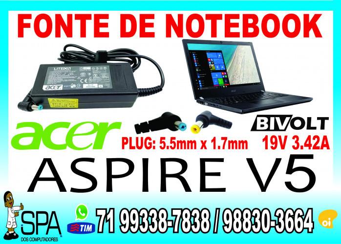 Carregador Notebook Acer Aspire E1 19v 3.42a 5.5mm x 1.7mm