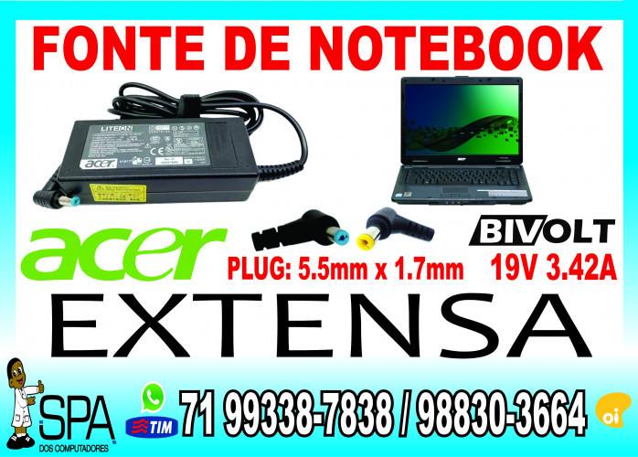 Carregador Notebook Acer Aspire V5 19v 3.42a 5.5mm x 1.7mm