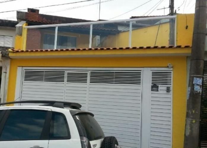 Casa Assobradada com Edícula 250 m² em Santo André - Parque Novo Oratório.