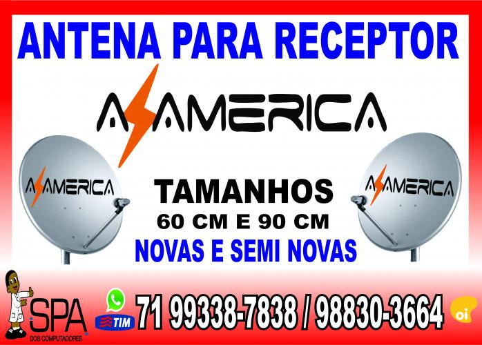 Antenas Banda KU 60cm e 90cm para Receptores Az America em Salvador Ba
