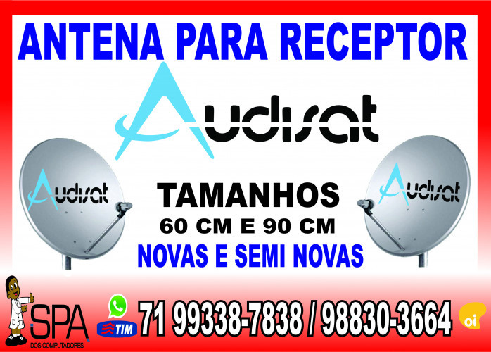 Antenas Banda KU 60cm e 90cm para Receptores Alphasat em Salvador Ba