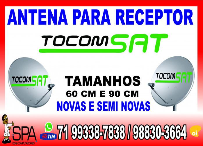 Antenas Banda KU 60cm e 90cm para Receptores Tocomsat em Salvador Ba