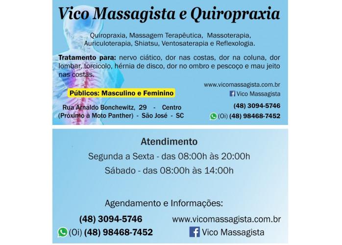 Em São Jose SC Quiropraxia Massagem Terapeutica Massoterapia Florianopolis