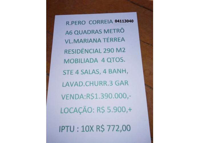 CASA TÉRREA DE 4 DORMITÓRIOS NA VILA MARIANA
