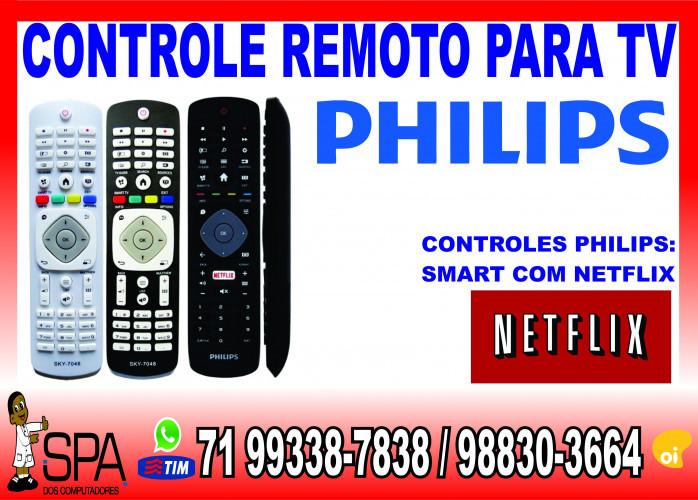 Controle Remoto Tv Philips Lcd, Plasma, Led e Smart tv em Salvador Ba