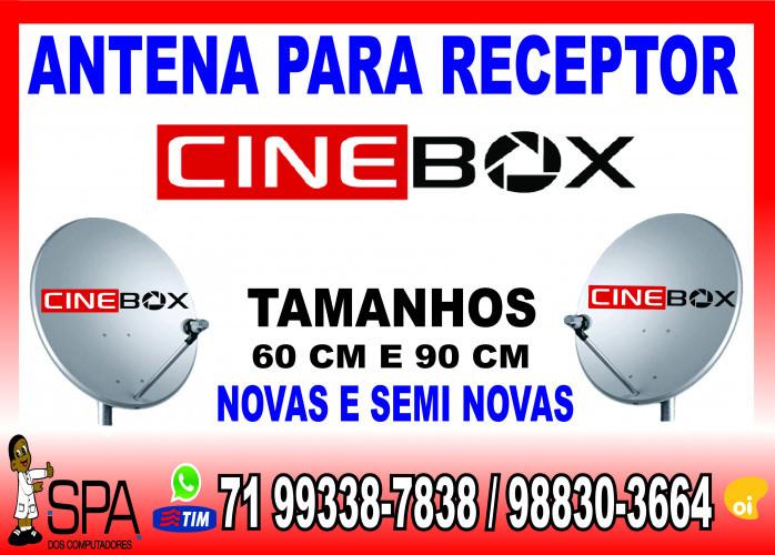 Antenas Banda KU 60cm e 90cm para Receptores Cinebox em Salvador Ba