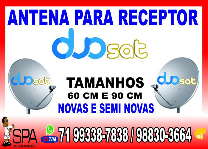 Antenas Banda KU 60cm e 90cm para Receptores Duosat em Salvador Ba