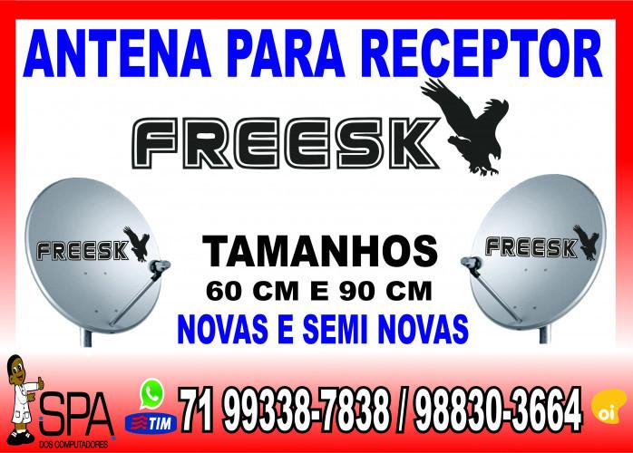 Antenas Banda KU 60cm e 90cm para Receptores Freesky em Salvador Ba
