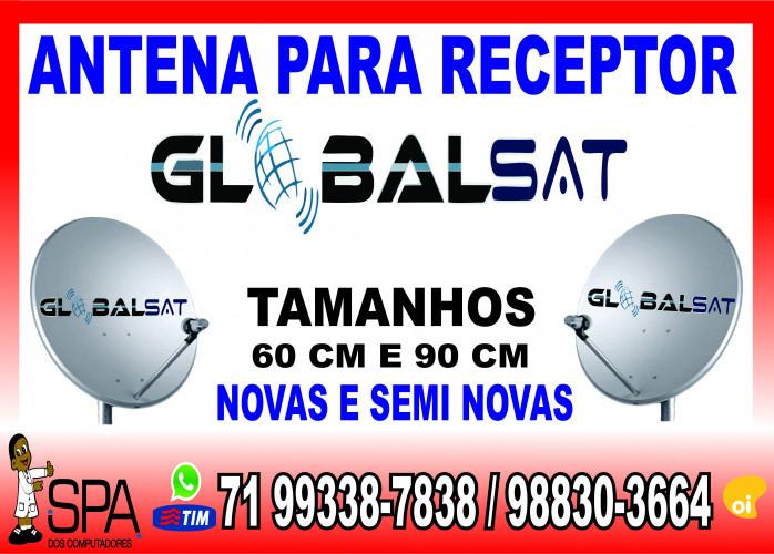 Antenas Banda KU 60cm e 90cm para Receptores Globalsat em Salvador Ba