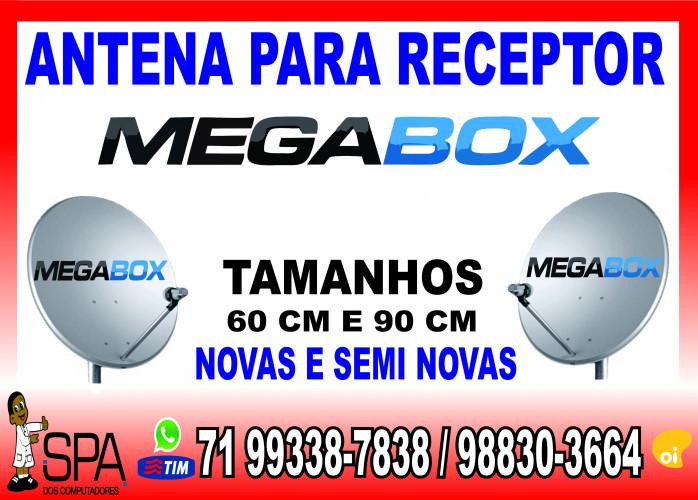 Antenas Banda KU 60cm e 90cm para Receptores Megabox em Salvador Ba