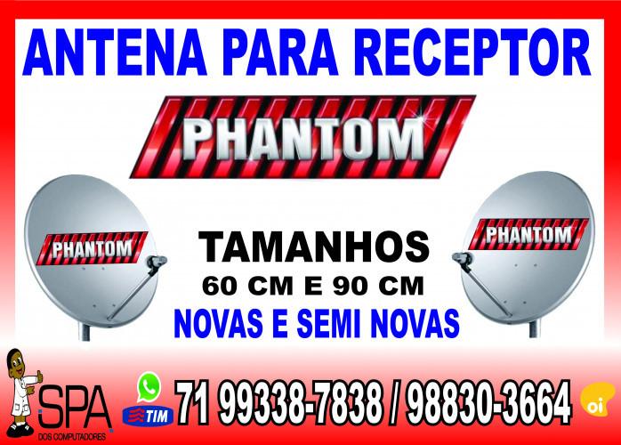 Antenas Banda KU 60cm e 90cm para Receptores Phantom em Salvador Ba