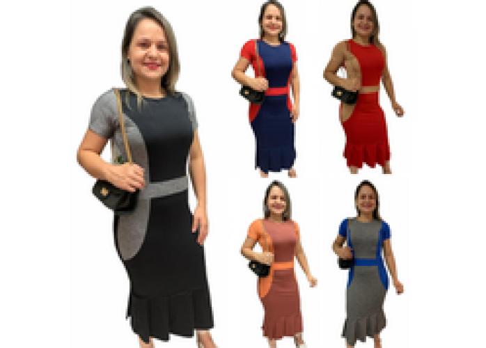 Vestido Suplex Sereia 3 Peças