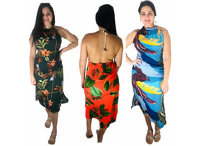 Vestido Viscose Costa Nua 3 PEÇAS