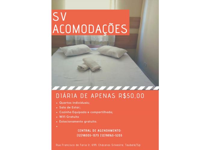 Pousada em Taubaté com quartos de até R$100,00 por pessoa