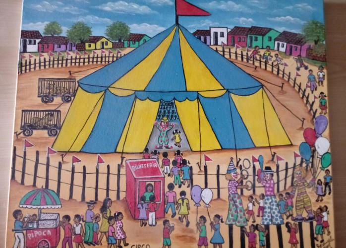 Rosangela Borges Tema Circo Medida 60x50