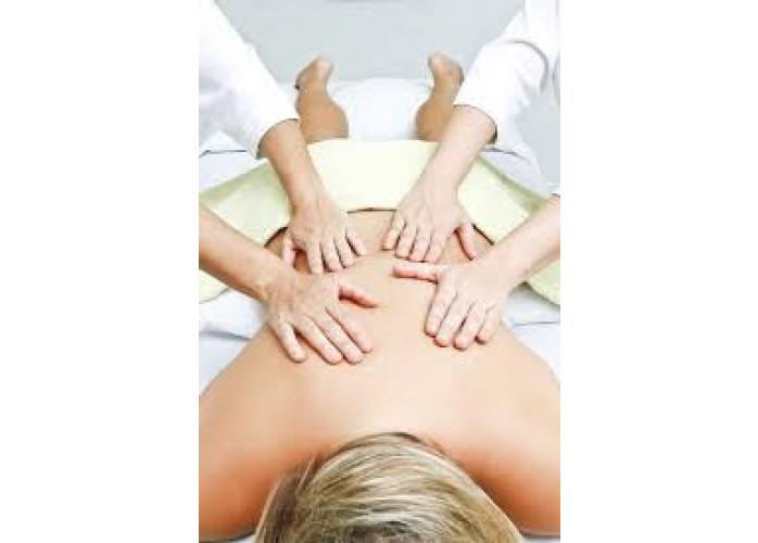 Massagem relaxante 4 mãos