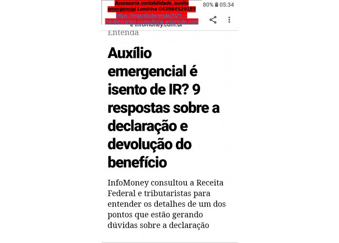 Governo vai cobrar Imposto de renda sobre Auxilio emergencial