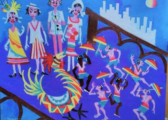Aécio tema bonecos do carnaval de Olinda medida 60x60