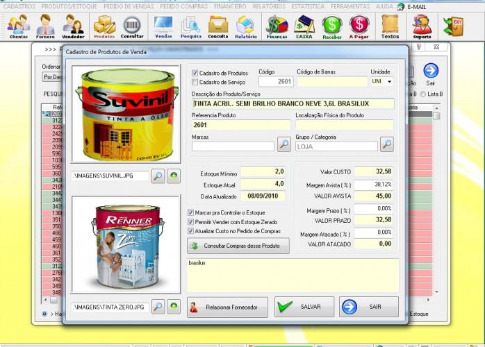 Programa Controle de Estoque, Pedido de Vendas e Financeiro v3.0 PLUS - FpqSystem