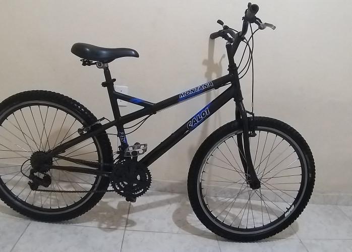 bicicleta caloi 18 marchas aros aero 26 raios inox duplo toda rolamento