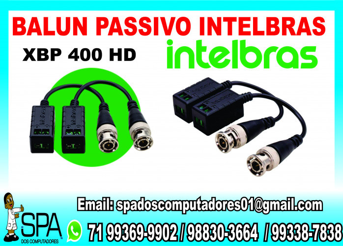 Balun Passivo Xbp 400 Hd Intelbras